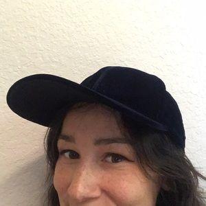 Velour Royal Blue Baseball hat